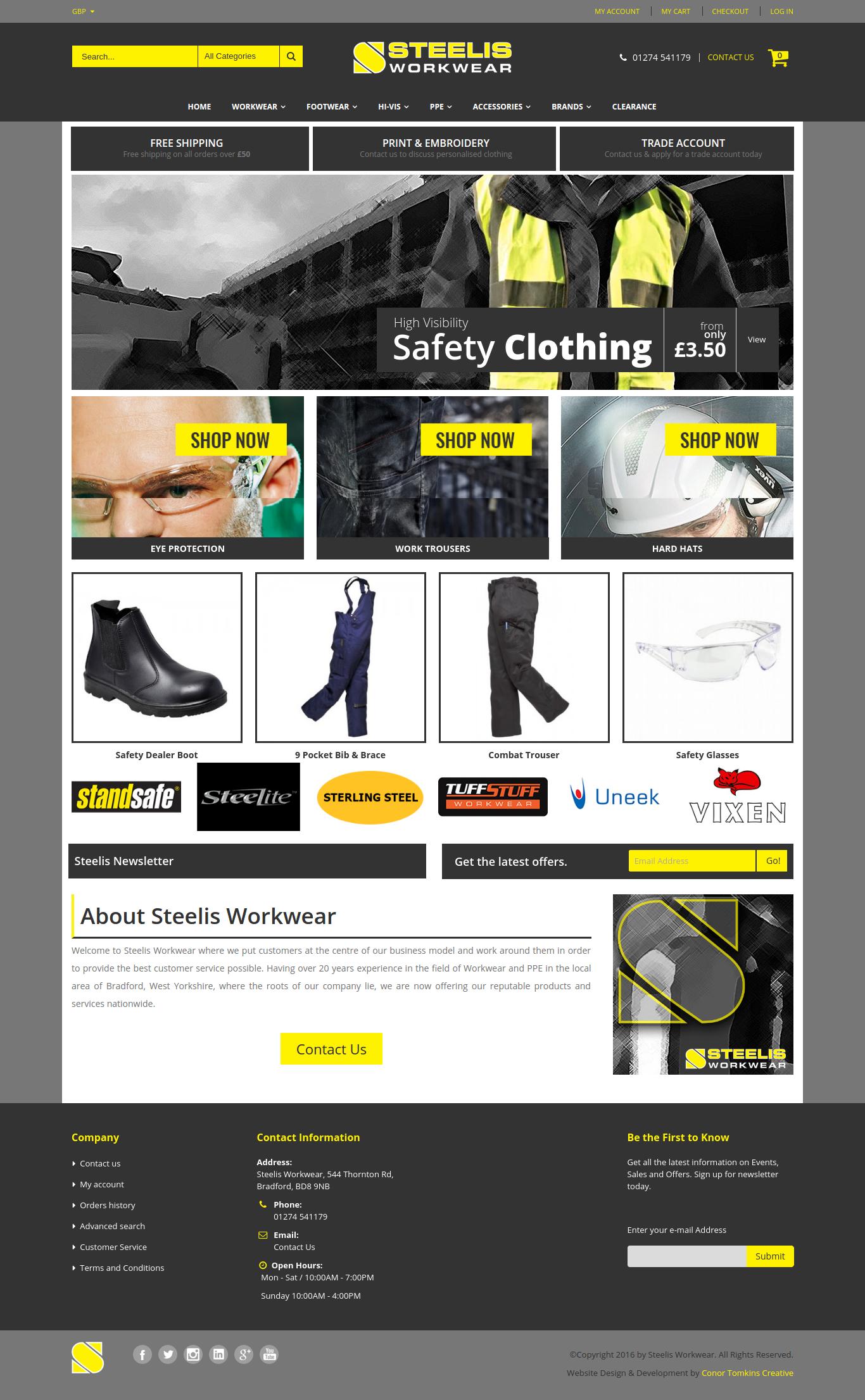 Magento Homepage Design